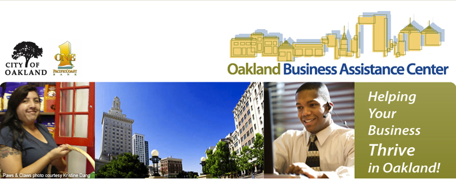 Oakland Business Assistance Center Website Header